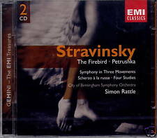 STRAVINSKY - THE FIREBIRD/PETRUSHKA (RATTLE) EMI    NEU