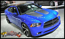FACTORY STRIPE DODGE CHARGER 2011-2013 HOOD  INSERT BLACKOUT  DECALS