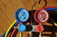Manifold Gauge+5ft Hose Set for R22 R134a R404a Alloy Body AC HVAC Charging Tool