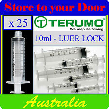25 x 10ml Terumo Syringe Luer Lock - Hypodermic Needle / Medical / Diabetic