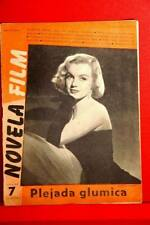 MARILYN MONROE ON COVER OLD RARE EXYU MAGAZINE 1953