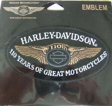 HARLEY DAVIDSON 110TH ANNIVERSARY OVAL VEST JACKET PATCH