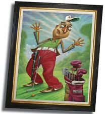 "New David O'Keefe Framed Rodney Dangerfield Golf Caddyshack Print 22"" x 28"""