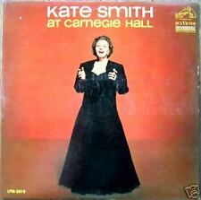 KATE SMITH AT CARNEGIE HALL  LP  RCA VICTOR