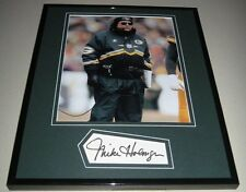 Mike Holmgren Signed Framed 11x14 Photo Display Packers Seahawks Browns 49ers