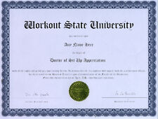 Doctor Sit Up Appreciation Diploma ab abs flex workout
