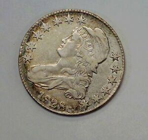 1828 CAPPED Bust Half Dollar 50 c. O-111 R-4