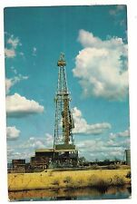 OIL DRILLING RIG Steel Derrick Somewhere in CALIFORNIA Postcard 1969