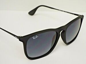 Ray-Ban RB 4187 622/8G Chris Matte Black Grey Gradient Sunglasses $188