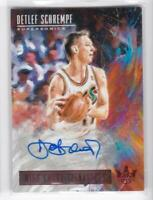 2018-19 Detlef Schrempf /99 Auto Panini Court Kings High Court Signatures