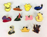 Disney Trading Pin Set Of Characters Hats Lot Of 11 Disneyland Pin Set