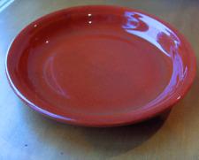Vintage 1930's Bauer Monterey pie plate/pie baker~Red-brown glaze-no reserve