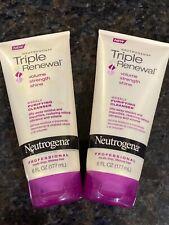 2 Neutrogena Triple Renewal Weekly Purifying Cleanser 6 oz.