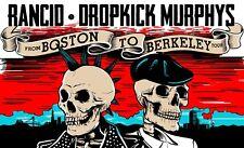 "Rancid & Dropkick Murphys ""From Boston To Berkley"" Poster - Punk & Celtic Music"