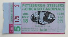1956 NFL Pittsburgh Steelers vs Chicago Cardinals Forbes Field Ticket Stub