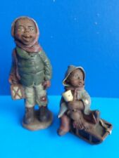 2 Black Americana Sarah'S Attic Figures- Bubba & Pansy- 1990 Limited Editions