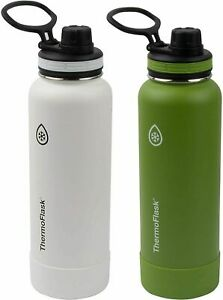 ThermoFlask Double Wall Vacuum Insulated Stainless Steel Water Bottles 1.2L Gree