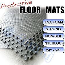 12mm Garage Workshop Anti Fatigue Flooring Tiles Mats LIGHT GREY 144 Sq Ft