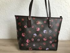 COACH F24372  City Tote Floral Patented Print Signature Leather Handbag NEW