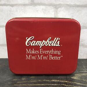 "Campbells Souper Recipes Tin 6""x4"" Red Tin Campbell's Recipe Tin No Cards"