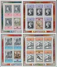 More details for antigua: 1980 london 80 opts on rowland hill set in sheetlets sg603-5 mnh