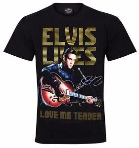 New  Elvis Presley SPARKLE DESIGN T-Shirt  Love Me Tender  Print Front And Back