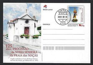 Our Lady of Beach. PRAIA das MAÇAS, COLARES, SINTRA Stationery Postcard PORTUGAL