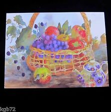 Leanin Tree Thank You Basket of Fruit Greeting Card Multi Color R298