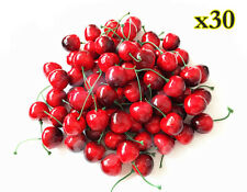 30 x Little Cherry home decorating foam fruit simulation shooting props Us Stock