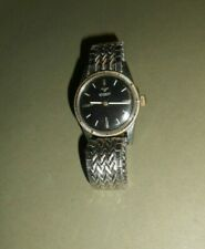 Vintage Longines Wittnauer Watch, Automatic Black Dial, Mens Watch 17J 11sn,Runs