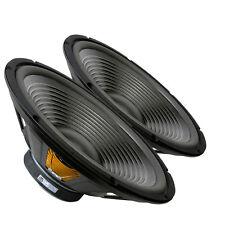 "Pair GRS 15PF-8 15"" Paper Cone Foam Surround Woofer Speaker 8 ohm 87dB 1.50"" VC"