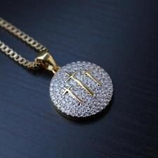 Gold Hip Hop Cross Pendant Fully Iced Out High Quality