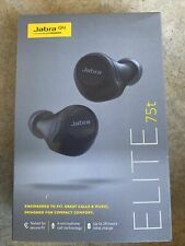 NEW Jabra - Elite 75t True Wireless In-Ear Headphones - Black - SEALED
