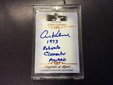 """2012 Leaf Legends Inscriptions Al Kaline Autograph Auto """"1973 Roberto Clemente"""