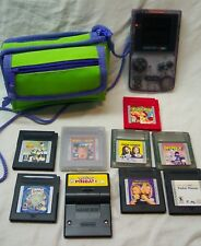 Nintendo GAME BOY COLOR Atomic Purple Handheld System W/ Games Pokemon Case