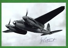 Joe Patient RAF WWII Mosquito Bomber Navigator Signed 4x6 Glossy Photo E17067