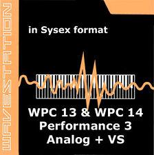 sysex sound for Korg Wavestation of the WPC-13 WPC-14 Performance 3 & Analog vs