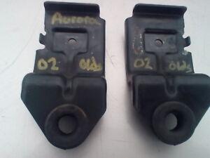 2002 BUICK OLDSMOBILE AURORA RADIATOR HOLD DOWN BRACKETS PAIR OEM