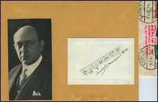 Arnold SCHOENBERG (Composer): Autograph Musical Quotation from Op. 31