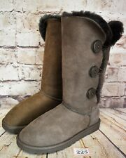 Womens UGG Australia Bailey Button Triplet Brown Boots UK 4.5 EUR 37 Model 1873