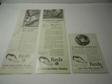 """Vintage 1920s Keds Shoes """"As Natural As Paws"""" Lot of 3 Ads - Lot 3- 8JL"""