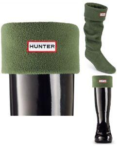 New Ladies Hunter Boots Warm Fleece Welly Socks Green Size Medium Fits 3 4 5