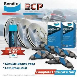 Front + Rear BCP Brake Rotors Bendix Brake Pads for Subaru Impreza GD GG 160 kW