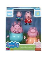 ☆☆BRAND NEW AUTHENTIC PEPPA PIG Family 4 Pack Figures (3+) ☆☆
