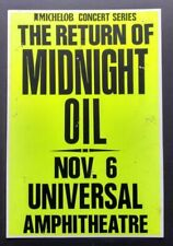 MIDNIGHT OIL Original Promo Concert Poster 1988 Australia The Saints INXS
