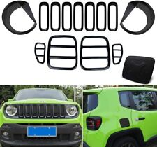14 Pcs Tail light Covers & Front Mesh Grille Grill Inserts for Jeep Renegade