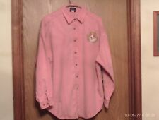 Woman'S 100% Cotton Pink Shirt With Hand Painted Pembroke Welsh Corgi On Front