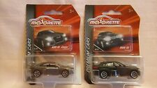 MAJORETTE NEW OUT PREMIUM CARS BMW X6 IN MATT BLACK,AUDI A5 COUPE IN GREY,MIB.