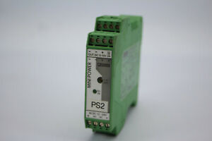Phoenix Contact MINI-PS-12-24DC/5-15DC/2 Power Supply 12VDC Din Mount Used