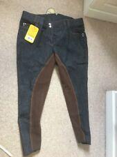 Ladies HKM Blink Bling Denim Jean Breeches Size 22 Uk